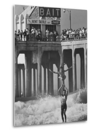 Competition in Tandem Surfing-John Loengard-Metal Print