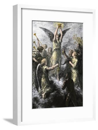 """Celebration of Angels in the Prelude to Wagner's """"Lohengrin""""--Framed Giclee Print"""