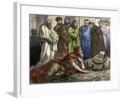 Prophet Ezekiel Telling About His Visions from God--Framed Giclee Print