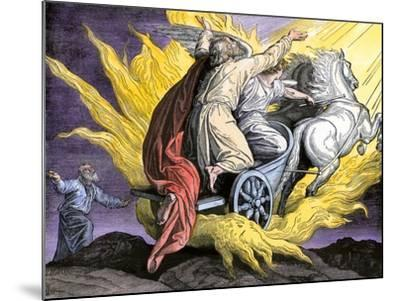 Elijah Taken by an Angel in a Fiery Chariot--Mounted Giclee Print