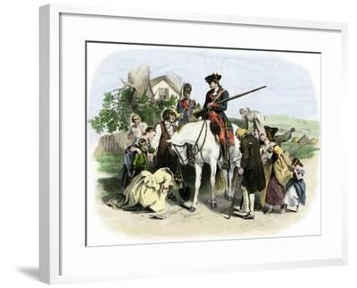 Townspeople of Winchester, Virginia, Appeal to George Washington, French and Indian War--Framed Giclee Print