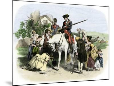 Townspeople of Winchester, Virginia, Appeal to George Washington, French and Indian War--Mounted Giclee Print