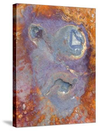 Imagined Face in Slate, Easdale, Scotland, UK-Niall Benvie-Stretched Canvas Print
