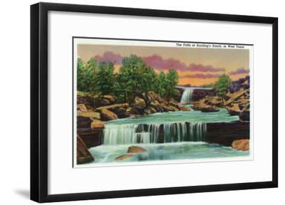 Texas - View of the Falls at Harding's Ranch in West Texas, c.1940-Lantern Press-Framed Art Print