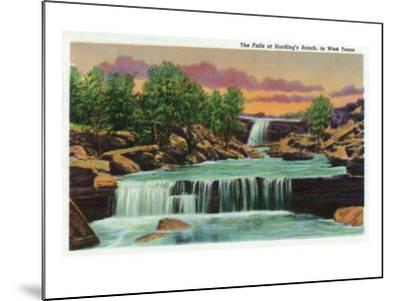 Texas - View of the Falls at Harding's Ranch in West Texas, c.1940-Lantern Press-Mounted Art Print