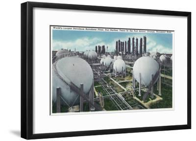 Beaumont, Texas - General View of the World's Largest Petroleum Butadiene Plant, c.1948-Lantern Press-Framed Art Print
