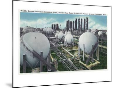 Beaumont, Texas - General View of the World's Largest Petroleum Butadiene Plant, c.1948-Lantern Press-Mounted Art Print