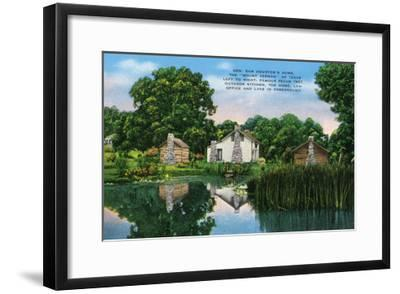 "Texas - General View of General Sam Houston's Home, the ""Mount Vernon"" of Texas, c.1940-Lantern Press-Framed Art Print"