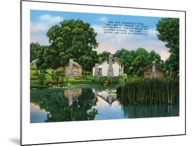 "Texas - General View of General Sam Houston's Home, the ""Mount Vernon"" of Texas, c.1940-Lantern Press-Mounted Art Print"