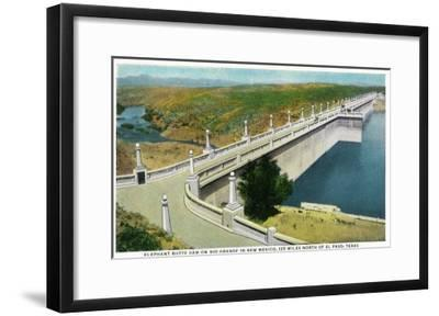 New Mexico - View of Elephant Butte Dam on the Rio Grande, 125 Miles North of El Paso, c.1936-Lantern Press-Framed Art Print