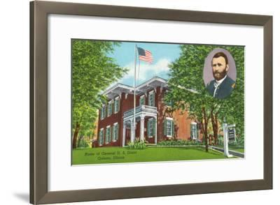 Galena, Illinois - Exterior View of the General Ulysses S. Grant's Home, c.1955-Lantern Press-Framed Art Print