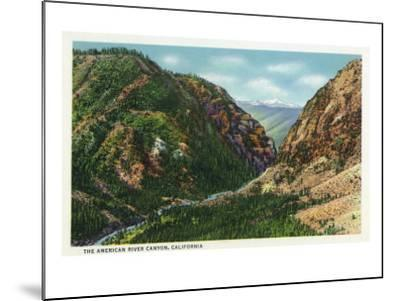 California - Scenic View in the American River Canyon, c.1937-Lantern Press-Mounted Art Print