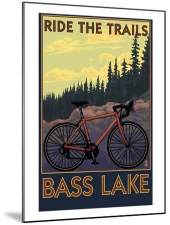 Bass Lake, California - Ride the Trails, c.2008-Lantern Press-Mounted Art Print