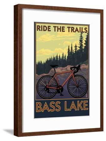 Bass Lake, California - Ride the Trails, c.2008-Lantern Press-Framed Art Print