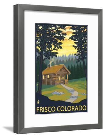 Frisco, Colorado - Cabin in the Woods, c.2008-Lantern Press-Framed Art Print