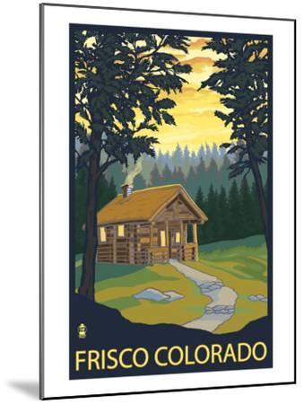 Frisco, Colorado - Cabin in the Woods, c.2008-Lantern Press-Mounted Art Print