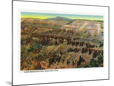 Cedar Breaks Nat'l Monument, Utah - Panoramic View of Cedar Breaks, c.1938-Lantern Press-Mounted Art Print