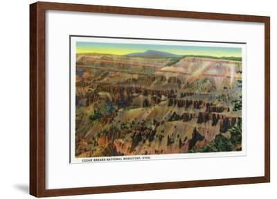 Cedar Breaks Nat'l Monument, Utah - Panoramic View of Cedar Breaks, c.1938-Lantern Press-Framed Art Print