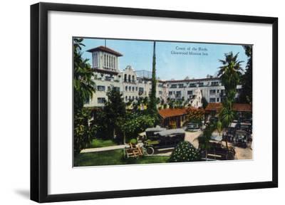 Riverside, California - View of Glenwood Mission Inn, View of the Court of the Birds, c.1915-Lantern Press-Framed Art Print