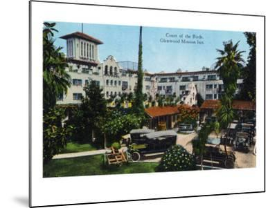 Riverside, California - View of Glenwood Mission Inn, View of the Court of the Birds, c.1915-Lantern Press-Mounted Art Print