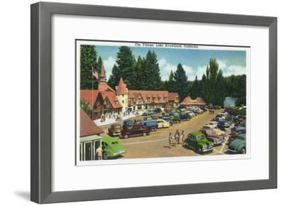Lake Arrowhead, California - General View of the Village, c.1949-Lantern Press-Framed Art Print