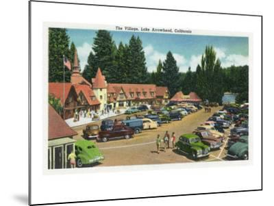 Lake Arrowhead, California - General View of the Village, c.1949-Lantern Press-Mounted Art Print