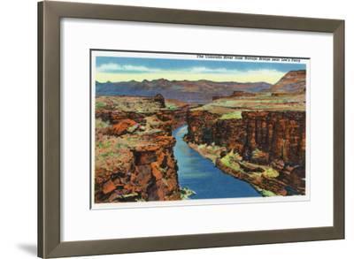 Grand Canyon Nat'l Park, Arizona - Navajo Bridge View of Colorado River Near Lee's Ferry, c.1938-Lantern Press-Framed Art Print