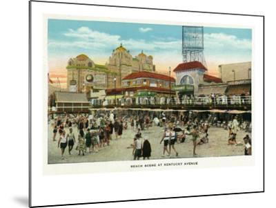 Atlantic City, New Jersey - Beach Scene at Kentucky Avenue, c.1929-Lantern Press-Mounted Art Print