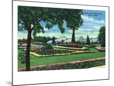 Joliet, Illinois - Scenic View of the Pilcher Park Arboretum, c.1945-Lantern Press-Mounted Art Print