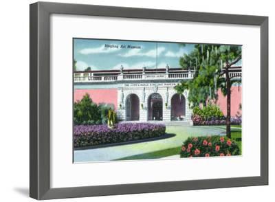 Sarasota, Florida - Exterior View of the Ringling Art Museum, c.1947-Lantern Press-Framed Art Print