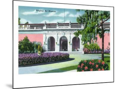 Sarasota, Florida - Exterior View of the Ringling Art Museum, c.1947-Lantern Press-Mounted Art Print