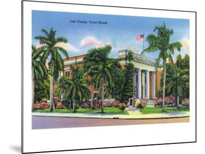 Fort Myers, Florida - Exterior View of the Lee County Court House, c.1948-Lantern Press-Mounted Art Print