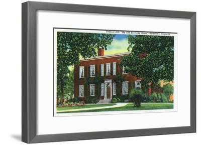 "Bardstown, Kentucky - Exterior View of ""My Old Kentucky Home"" on Federal Hill, c.1939-Lantern Press-Framed Art Print"