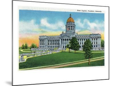Frankfort, Kentucky - Exterior View of the State Capitol, c.1939-Lantern Press-Mounted Art Print