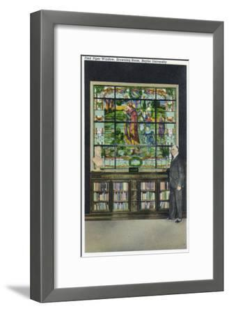 Waco, Texas - Baylor University, Interior View of the Browning Room, Pied Piper Window, c.1944-Lantern Press-Framed Art Print