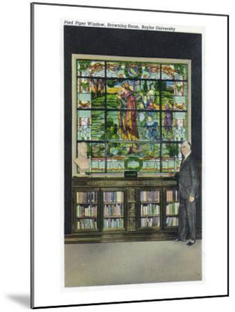 Waco, Texas - Baylor University, Interior View of the Browning Room, Pied Piper Window, c.1944-Lantern Press-Mounted Art Print
