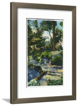 Waco, Texas - a Beautiful View in Cameron Park, c.1944-Lantern Press-Framed Art Print