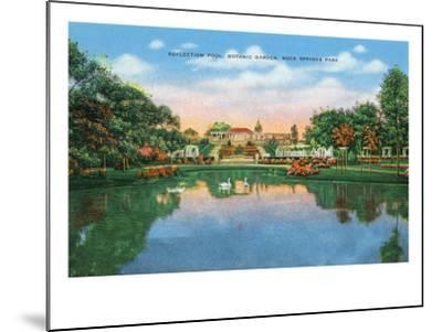 Fort Worth, Texas - Rock Springs Park View of the Reflection Pool and Botanic Garden, c.1935-Lantern Press-Mounted Art Print