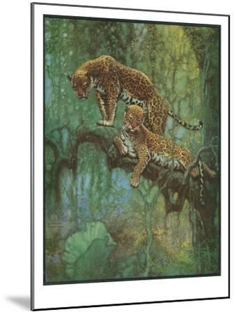 Nature Magazine - Two Leopards in a Tree, c.1932-Lantern Press-Mounted Art Print