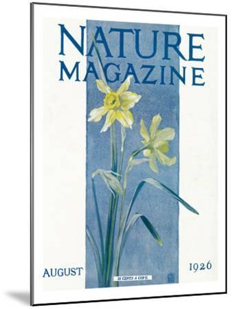 Nature Magazine - View of Blooming Daffodils, c.1926-Lantern Press-Mounted Art Print