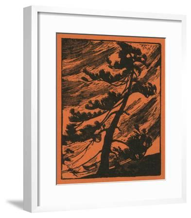 Nature Magazine - View of a Tree Being Thrashed in a Wind Storm, c.1940-Lantern Press-Framed Art Print