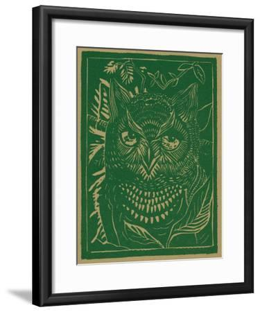 Nature Magazine - View of a Horned Owl in the Bushes, c.1941-Lantern Press-Framed Art Print