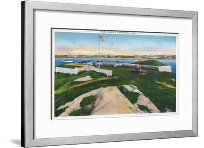 Fairhaven, Massachusetts - View of Fort Phoenix, c.1929-Lantern Press-Framed Art Print
