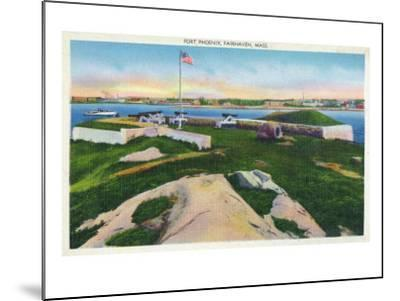 Fairhaven, Massachusetts - View of Fort Phoenix, c.1929-Lantern Press-Mounted Art Print
