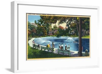 Boston, Massachusetts - Boston Common View of the Frog Pond, c.1933-Lantern Press-Framed Art Print
