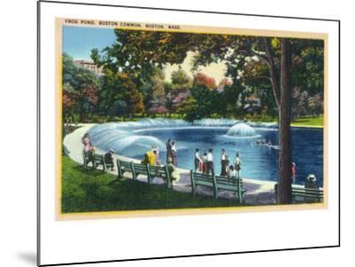 Boston, Massachusetts - Boston Common View of the Frog Pond, c.1933-Lantern Press-Mounted Art Print