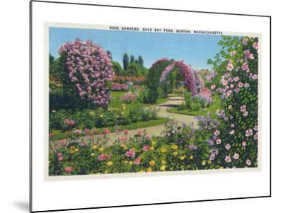 Boston, Massachusetts - Back Bay Fens and Rose Gardens View, c.1939-Lantern Press-Mounted Art Print