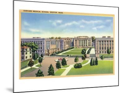 Boston, Massachusetts - Panoramic View of Harvard Medical School and Campus, c.1936-Lantern Press-Mounted Art Print