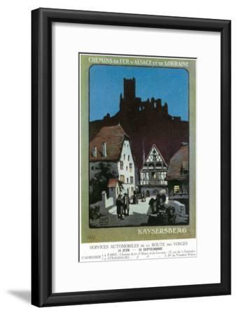 Kaysersberg, France - Scenic View of Town, Alsace and Lorraine Railway Postcard, c.1920-Lantern Press-Framed Art Print