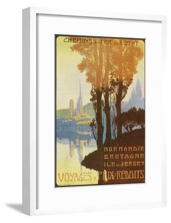 France - State Railway Promo for Normandy, Brittany, and Isle of Jersey, c.1920-Lantern Press-Framed Art Print